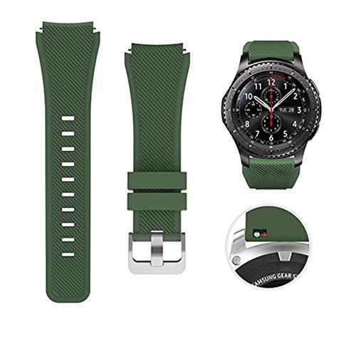MJS Banda de Silicona de 22 mm para Samsung Galaxy Watch 46mm 42mm Correa Deportiva para Samsung Gear S3 Frontier/Clásico Activo 2 Huawei Watch 2 (Color : Color 3, Talla : For Huawei Watch 2)