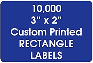 "Printed Labels, Personalized Rectangle 2"" x 3"" Custom Rolls, Business Product Brand Stickers, One Ink Color - (Made in The..."