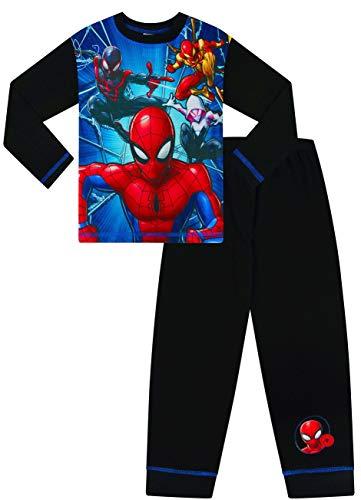 Marvel Spiderman - Pijama largo para niños Negro Negro ( 3-4 Años