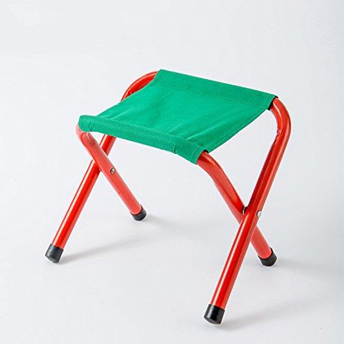 LJHA Tabouret pliable Chaise pliante Tabouret en métal portatif Chaise de pêche Mazar Banc de train en plein air 24 * 19 * 19cm chaise patchwork (taille : # 3)
