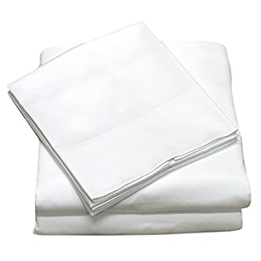 400 Thread Count 100% Long Staple Cotton Sheet Set, Soft & Silky Sateen Weave, Queen Bed Sheets, Elastic Deep Pocket, Hotel Collection, Wrinkle Free, Luxury Bedding, 4 Piece Set, Queen - White