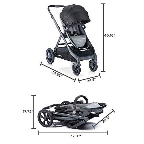 Joovy Qool Stroller, Travel System, Premium Stroller, Black Melange