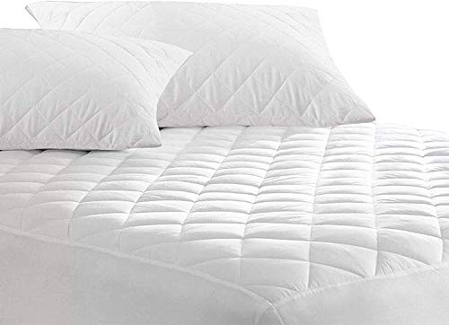 Waterproof Mattress Protector - Cover Easy Care Diamond Quilted 30cm Deep Fitted Protector | Non-Allergenic, Anti Dustmite & Super Absorbent (Cot Bed)
