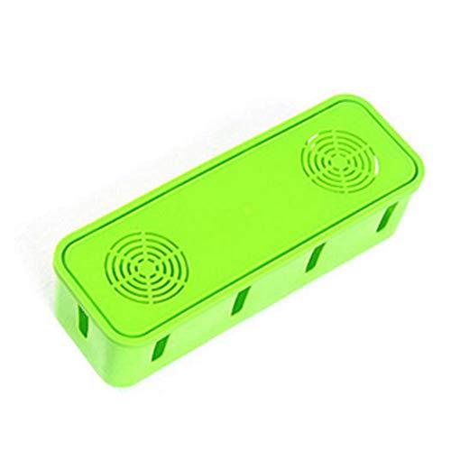 Egbert Honana HN-B60 Bunte Kabelspeicherbox Große Haushaltswiruben-Organis-Kraftband-Abdeckung - Grün