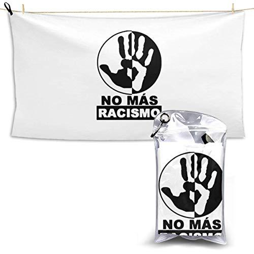 RTRTRT Di no al Racismo Toalla de Secado rápido 28.7 'x 51' iuml; frac14; OElig; 'Hotel White Bath Towel Toalla de Playa