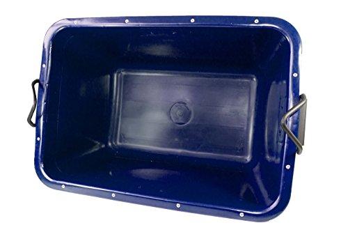 UvV-FMK 2. Wahl - blau - Fertigmörtelkübel, Mörtelwanne 200 Liter, kranbar, TüV geprüft (Blau)