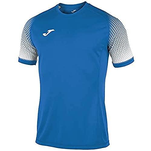 Joma Hispa Camisetas Equip. M/C, Hombre, Royal-Blanco, S