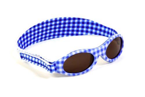 KIDZBANZ® Lunettes de soleil pour enfant - Bleu Adventure KB000 - Unisexe - Vêtements de bébé - Turquoise - Aqua Check, 2-5 Jahre