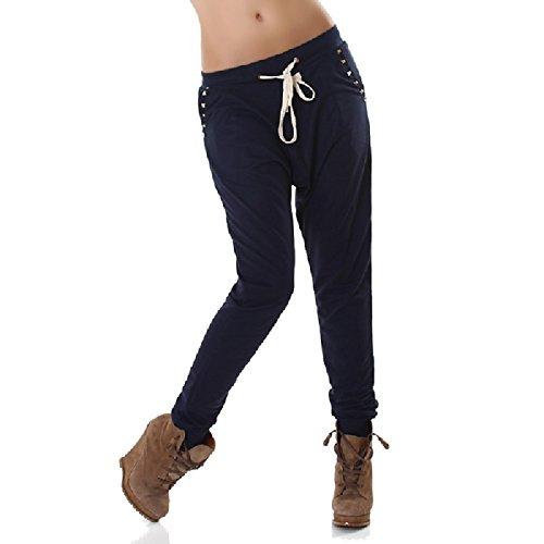 Cómodo plástico Pantalones Harén Pantalón Pumphose Chino con Remaches en Azul Oscuro Azul Marino tamaño s/m m/l 36/3838/40de Vera & Lucy Marine 40