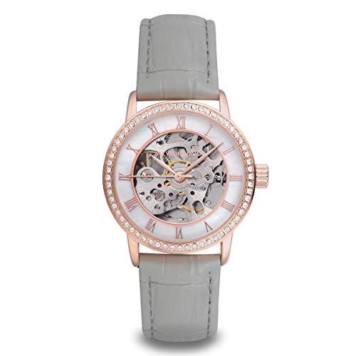 [アリーデノヴォ] ALLY DENOVO 腕時計 Gaia Pearl Automatic ガイアパール オートマティック 自動巻き メンズ レディース ウォッチ AF5021 (RoseGold White/Light Grey)