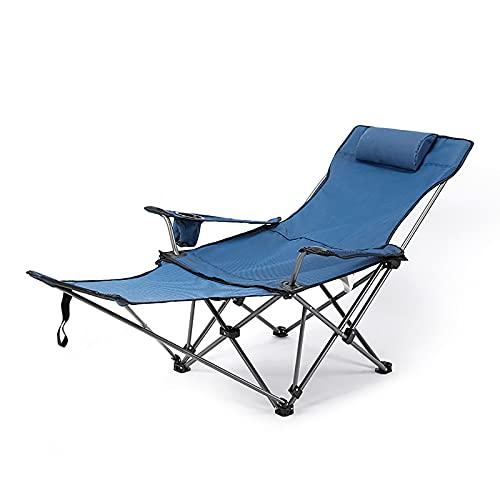 RTYHN Silla Playa Plegable Ligera,Silla Plegable Camping,Tumbonas Sol con Reposacabezas,Carga Máxima de 130 Kg,para Teléfono Jardín Terraza al Aire Libre