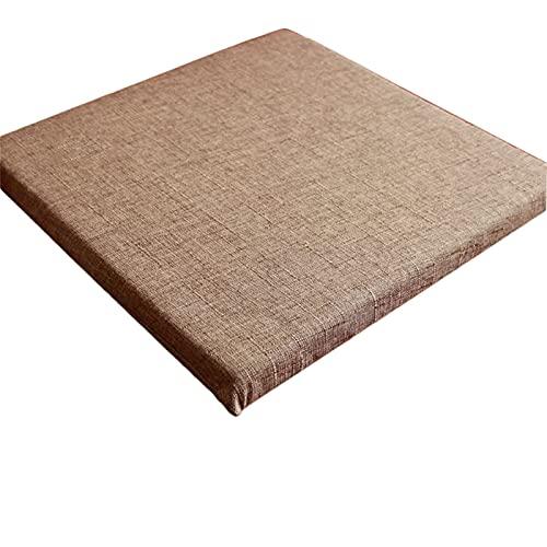 Cojín largo para banco Tatami Mat antideslizante 40 x 160 cm 2/3/4 plazas cojines para muebles de la ventana de la bahía jardín vacaciones al aire libre (marrón claro, 50 x 50 x 3 cm)