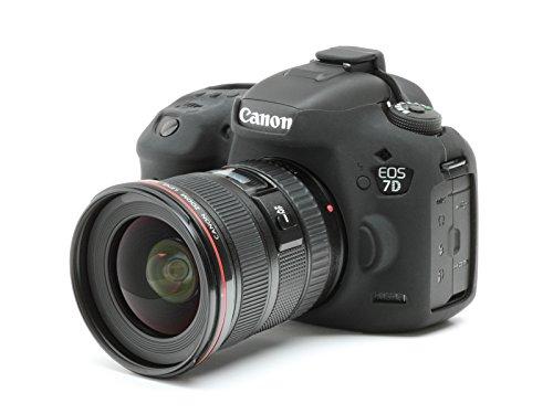DISCOVERED イージーカバー Canon EOS 7D mark 2 用 カメラカバー 液晶保護フィルム&スクリーンプロテクター付 (ブラック)