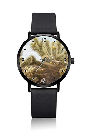 Cacti are like Fine Roots, orologio da polso da uomo, cassa ultra sottile, quadrante analogico minimalista, cinturino sottile, orologio da uomo con movimento al quarzo giapponese
