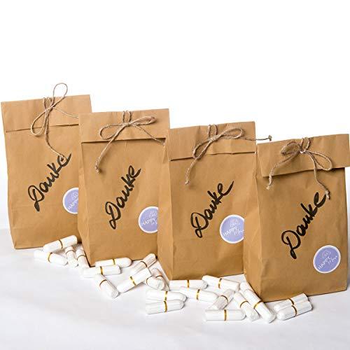 Lot de 200 tampons Bio-Tampons - 100 % coton bio avec certificat GOTS - Sans produits chimiques - Très confortable à porter - Grande capacité d'absorption - Emballage durable