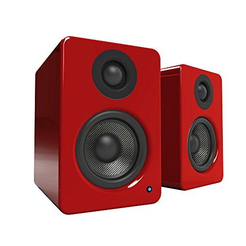 Kanto YU2 - Lautsprecher (2-Wege, Verkabelt, USB/3,5mm, 50 W, 80-20000 Hz, Rot)