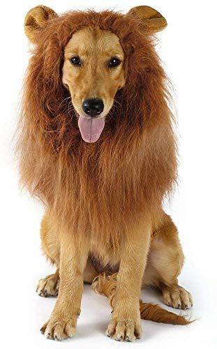Yolife Hundemähne, Realistische und lustige Hundekostüme Lion Perücke für mittelgroße bis große Hunde