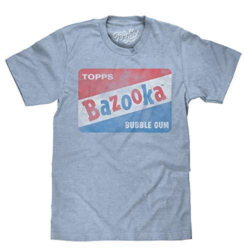 Vintage Bazooka Bubble Gum Licensed Topps T-Shirt-x-Large  Light Blue Heather