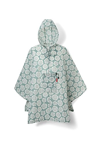 reisenthel mini maxi Damen poncho Regenmantel, grün (bloomy),141 x 116 cm
