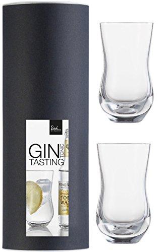 Eisch Gin Tonic Glas Set 519/61 2 Stück in Geschenkröhre gratis 1 Glasreinigungstuch