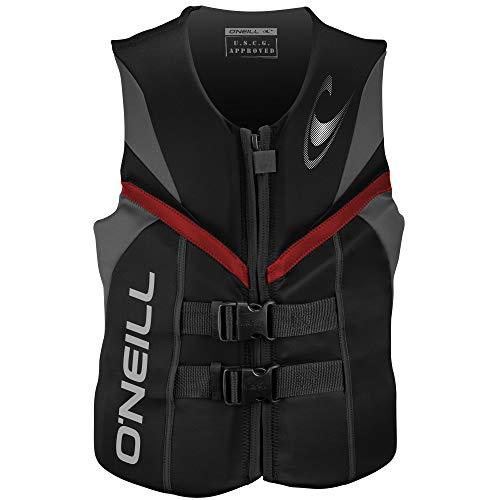 O'Neill Men's Reactor USCG Life Vest, Black/Graphite/Red, Medium