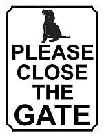 ゲートを閉じてくださいブリキの金属サインバーレトロな壁の装飾ポスターホームクラブ居酒屋の壁のドアの装飾アルミニウムサイン