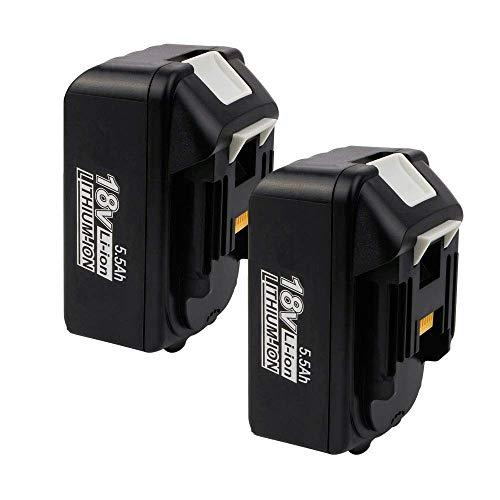 VANON 2 piezas 5,5 Ah batería de repuesto para Makita 18 V Li-ion compatible con BL1850B BL1850 BL1860B BL1860 BL1840B BL1840 BL1830 BL1835 BL1845 194204-5 LXT-400