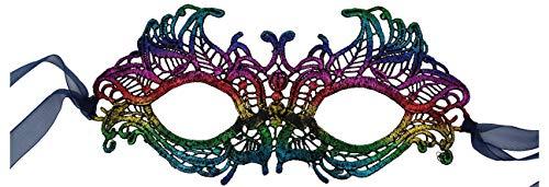 Luxury Mask Women's Stunning All Rainbow Lace Masquerade Mask LMC001