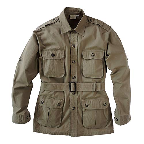 Tag Safari Jacket for Men, Lightweight, Multi Pockets, Perfect for Explorers, Photographers and Journalists Khaki