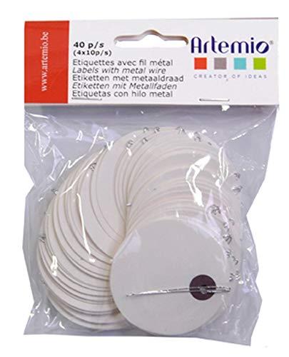 Artemio 11060199 Set de 50 Etiquettes, Papier, Blanc, 11,5 x 1,5 x 12,5 cm
