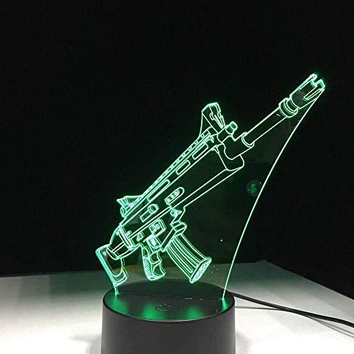 3D Illusie Nachtlampje 3D Led Nachtlamppistool komen met 7 Kleuren Licht voor Home Decoratie Lamp Visualisatie Optische Illusion7 Kleuren Touch Control Camping
