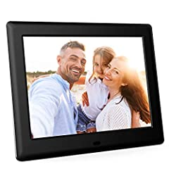 【HD PICTURE & IPS SCREEN】- Enjoy your pictures and videos on 8 inch IPS display with 1024x768 pixels, IPS display produced pleasingly accurate results along with a wide viewing angle, ensuring that images looked great from every corner of the room. T...