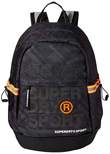 Superdry Herren Division Sport Backpack Rucksack, Schwarz (Diagonal Black), 35x20x46 cm