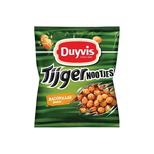 Arachidi in una doppia giacca croccante con pancetta e sapore di formaggio Duyvis è un marchio olandese di snack salati, arachidi e noci.