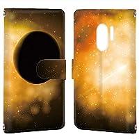 Galaxy S9+ (SC-03K・SCV39) 対応 PU手帳型 カードタイプ スマホケース [宇宙柄・カラフル] きらきら 銀河 SAMSUNG サムスン ギャラクシー エスナイン プラス docomo au スマホカバー 携帯ケース スタンド [FFANY] space 00k_115@02c