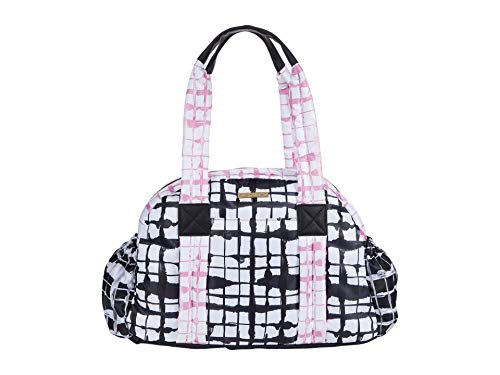 Betsey Johnson Louie Nylon Overnight Bag Pink/Black One Size