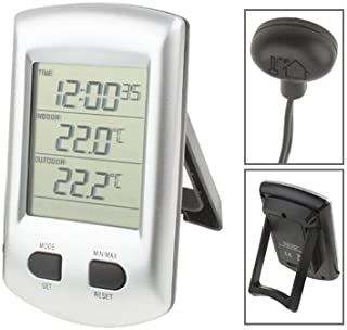 for Tang YI MING TL Indoor & Outdoor Thermometer with Clock/Calendar Messgerät