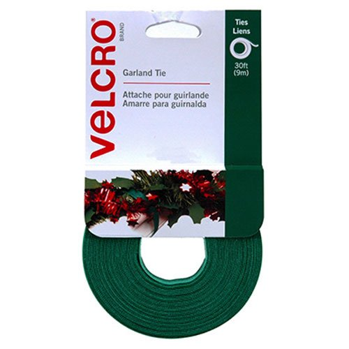 "VELCRO Brand - Holiday Garland Ties - 30' x 1/2"" Roll - Green"