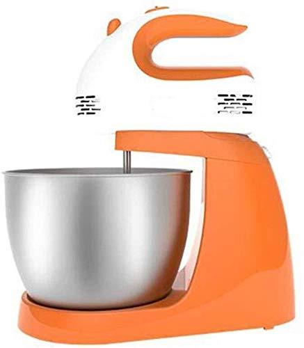 Batidoras amasadoras Mezclador de alimentos de 5 velocidades Masa ajustable gancho con la cocina de acero inoxidable Barril 3L for la familia y for la toma de Catering Home Baking crema pastelera: