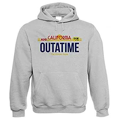 Adults California Outatime Back To The Future Grey Hoodie