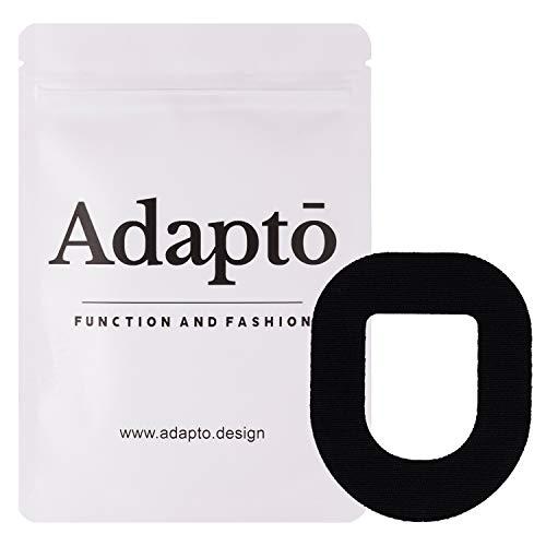 Adapto Omnipod Klebepflaster | Für Diabetes-Sensor | Wasserfest, hypoallergen | 10er-Pack, Schwarz