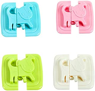 CHAHANG 2Pcs Cabinet Lock Safety Protection From Safe Locks Security Drawer Latches For Refrigerators Baby lock (Color : P...