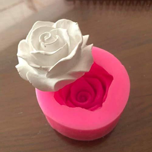 Flor flor flor rosa forma silicona fondant jabón 3D pastel moldes magdalenas jalea caramelo chocolate decoración hornear herramienta moldes