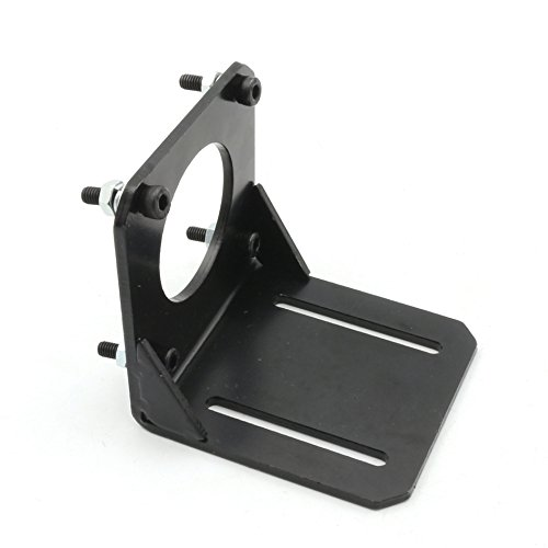1Pcs Nema23 Stepper Motor Bracket Mount Steel Mounting Support base Clamp 57 stepping motor Holder with screws for nema 23 CNC Parts CNC Router Milling Engraving Machine fixed seat