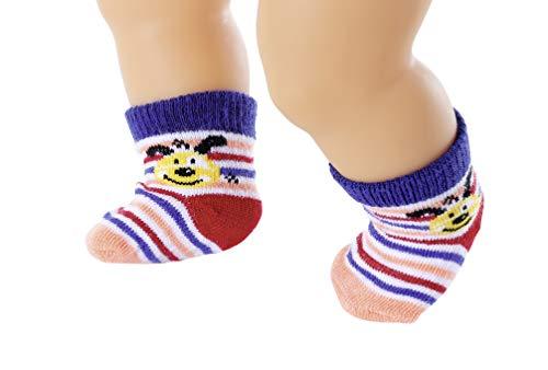 Zapf Creation 828304 BABY born Socken 2er-Pack Puppenkleidung 43 cm, Farbe nach Vorrat