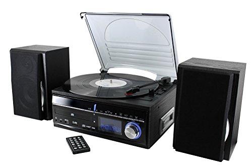 Soundmaster MCD 1700 Musikcenter mit CD,Plattenspieler,Kassette und Encoding