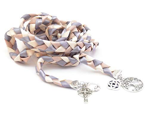 Divinity Braid 4 Charm Silver Celtic Wedding Handfasting 6ft Cord #Wedding #WeddingCeremony #DivinityBraid #Celtic #Handfasting #HandfastingCord #CelticWedding #CelticKnot