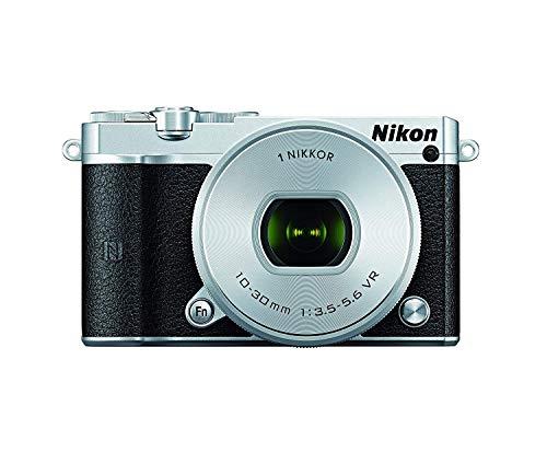 Nikon 1 J5 Mirrorless Digital Camera w/ 10-30mm PD-ZOOM Lens (Silver) (International Model) No Warranty