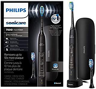 Philips Sonicare ExpertClean 7500 Rechargeable Electric Toothbrush, Black HX9690/05