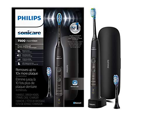 Price comparison product image Philips Sonicare ExpertClean 7500 Rechargeable Electric Toothbrush,  Black HX9690 / 05